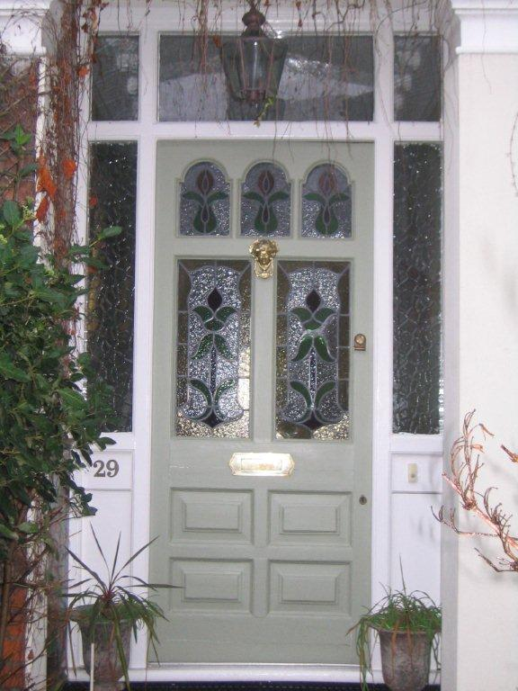 Green wood front door